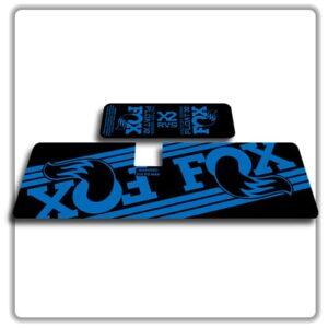 Fox Float X2 Rear Shock Stickers 2017 2018 Blue