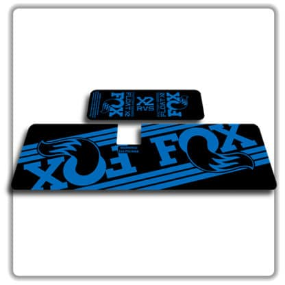 Fox Float X2 Rear Shock Stickers 2017 2018 Blue