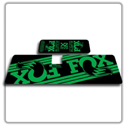 Fox Float X2 Rear Shock Stickers 2017 2018 Green