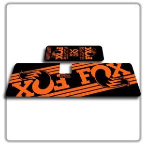 Fox Float X2 Rear Shock Stickers 2017 2018 Orange