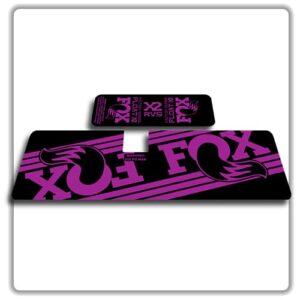 Fox Float X2 Rear Shock Stickers 2017 2018 Purple