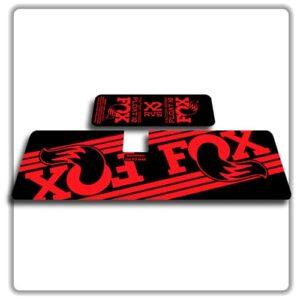 Fox Float X2 Rear Shock Stickers 2017 2018 Red