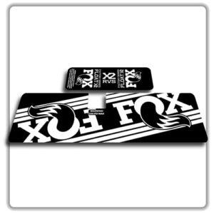 Fox Float X2 Rear Shock Stickers 2017 2018 White