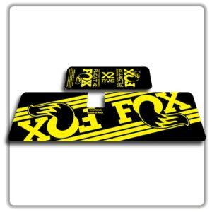 Fox Float X2 Rear Shock Stickers 2017 2018 yellow