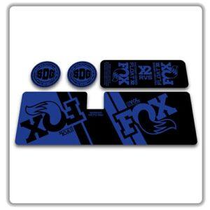 Fox Float X2 Rear Shock Stickers 2019 Blue