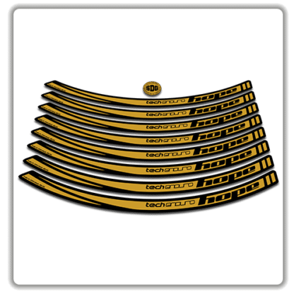 Gold Hope Tech Enduro 26 Rim Stickers