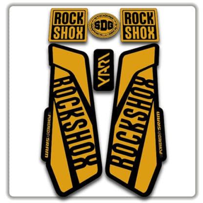 Gold Rockshox Yari Fork Stickers 2017