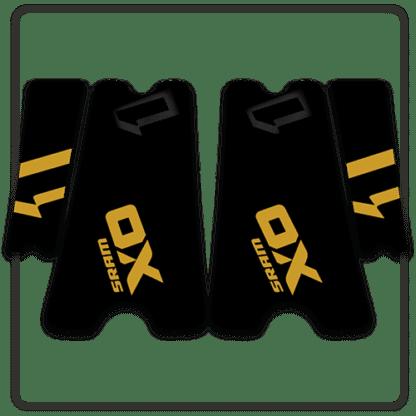 Gold SRAM X01 crank arm stickers