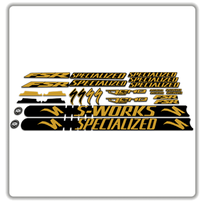 Gold Specialized Demo 8 Frame Set Stickers
