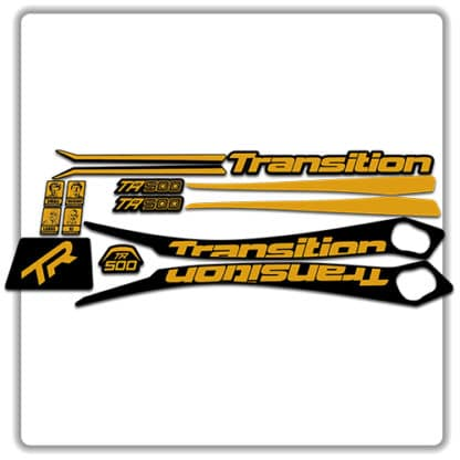 Gold Transition TR500 Frame Set Stickers