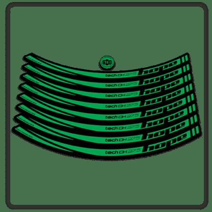 Green Hope Tech DH 27.5 Rim Stickers