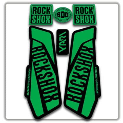 Green Rockshox Yari Fork Stickers 2017