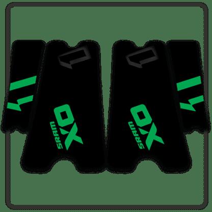 Green SRAM X01 crank arm stickers