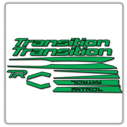 Green Transition Patrol Alloy Frame Set Stickers