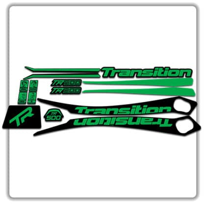 Green Transition TR500 Frame Set Stickers