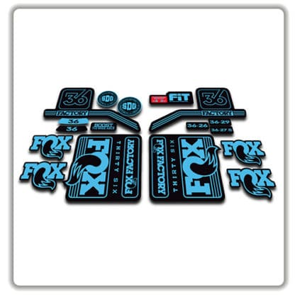 Light Blue Fox 36 Fork Stickers 2016 2017