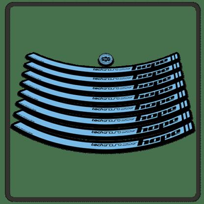 Light Blue Hope Tech Enduro 29 Rim Stickers