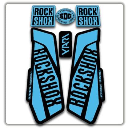 Light Blue Rockshox Yari Fork Stickers 2017