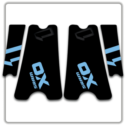 Light Blue SRAM X01 crank arm stickers