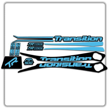 Light Blue Transition TR500 Frame Set Stickers