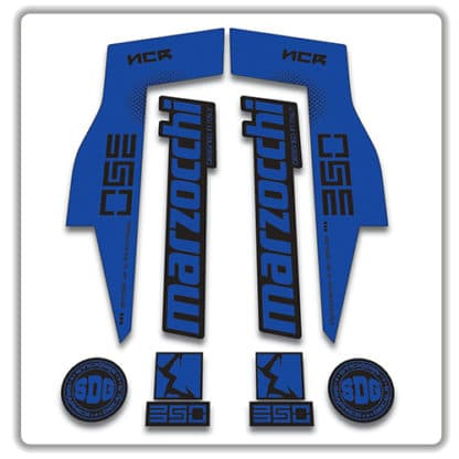 Marzocchi NCR350 Fork Stickers blue