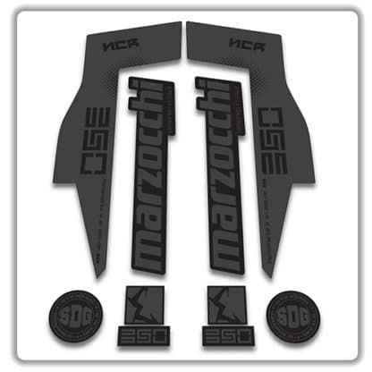 Marzocchi NCR350 Fork Stickers stealth
