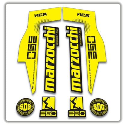 Marzocchi NCR350 Fork Stickers yellow