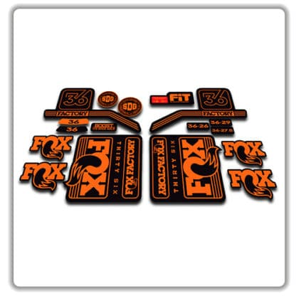 Orange Fox 36 Fork Stickers 2016 2017