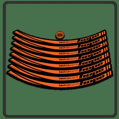 Orange Hope Tech DH 27.5 Rim Stickers