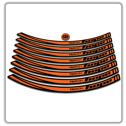 Orange Hope Tech DH26 Rim Stickers