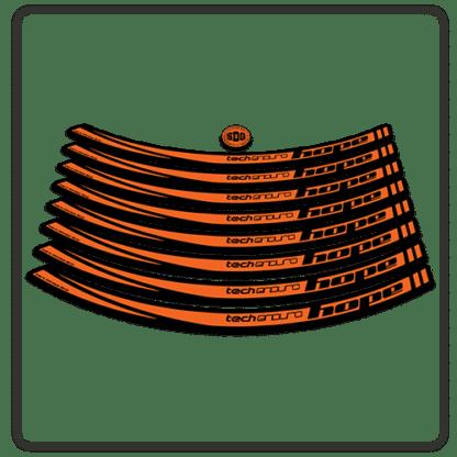 Orange Hope Tech Enduro 26 Rim Stickers