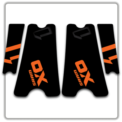 Orange SRAM X01 crank arm stickers