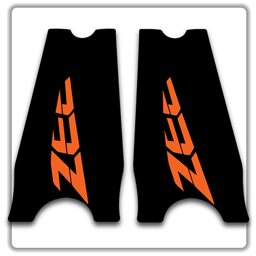 Orange Shimano Zee Crank stickers