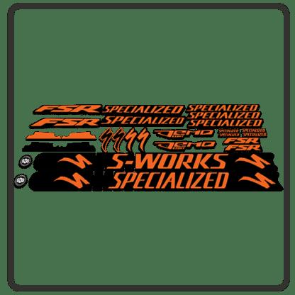 Orange Specialized Demo 8 Frame Set Stickers