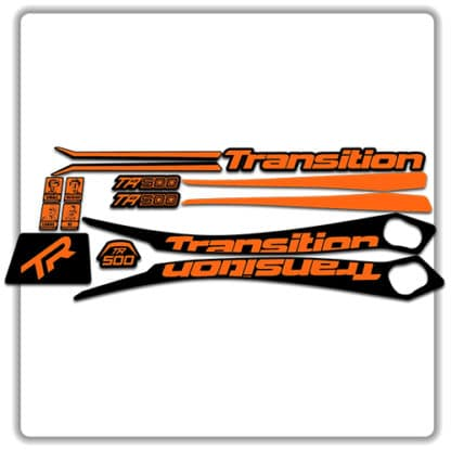 Orange Transition TR500 Frame Set Stickers