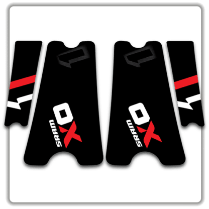 Original SRAM X01 crank arm stickers