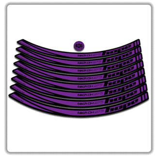 Purple Hope Tech DH 27.5 Rim Stickers