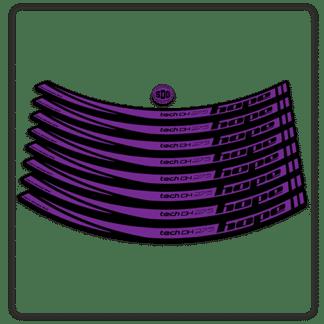 Purple Hope Tech DH 27.5 Rim Stickers
