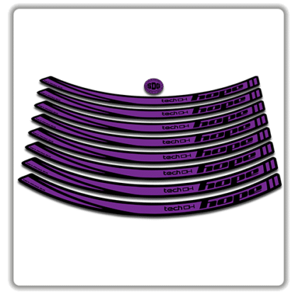 Purple Hope Tech DH26 Rim Stickers