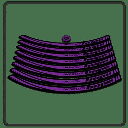 Purple Hope Tech Enduro 26 Rim Stickers