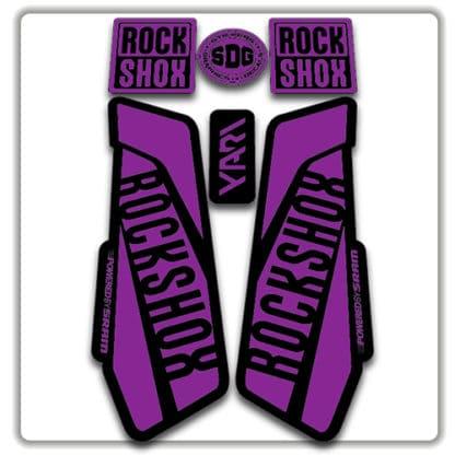 Purple Rockshox Yari Fork Stickers 2017