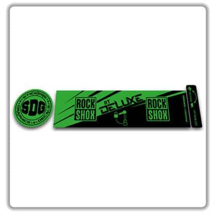 ROCK SHOX Monarch RT 2016 2017 rear shock stickers green
