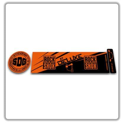 ROCK SHOX Monarch RT 2016 2017 rear shock stickers orange