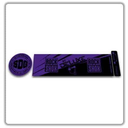 ROCK SHOX Monarch RT 2016 2017 rear shock stickers purple