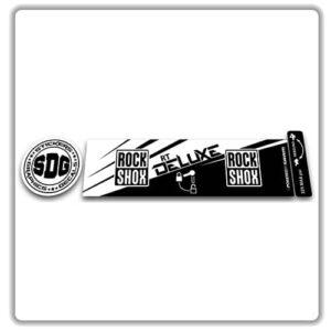 ROCK SHOX Monarch RT 2016 2017 rear shock stickers white