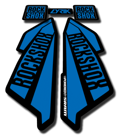 ROCKSHOX LYRIC sticker 2017 Blue