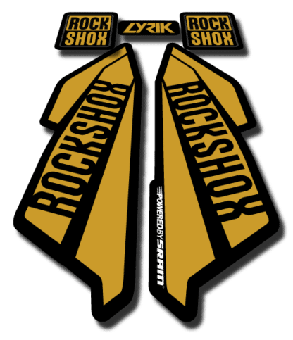ROCKSHOX LYRIC sticker 2017 Gold