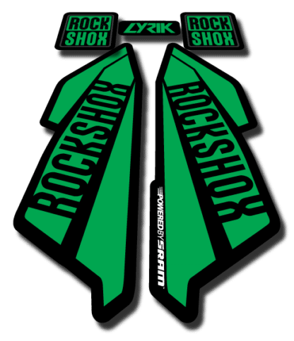 ROCKSHOX LYRIC sticker 2017 Green