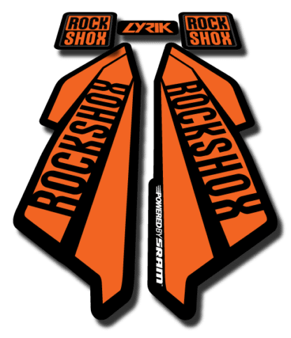 ROCKSHOX LYRIC sticker 2017 Orange