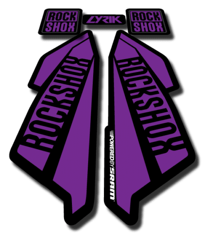 ROCKSHOX LYRIC sticker 2017 Purple